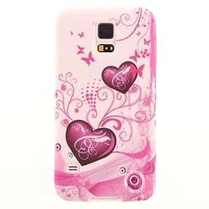 HP-Patrón Love Pink TPU cubierta suave para Samsung Galaxy i9600 S5