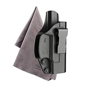 Sumtop Taurus Millennium G2 IWB Holster, Concealed Carry Inside Waistband Belt Holsters Fit PT111 PT140, Black -Microfiber Cloth Included
