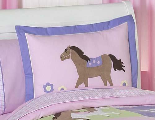 Pretty Pony Horse Children's 3 Piece Full / Queen Girls Bedding Set