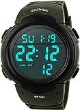 MJSCPHBJK Mens Digital Sports Watch, Waterproof LED