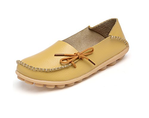 Verocara Women's Leather Lace Up Casual Flat Shoes Driving Loafers Yellow 8 B(M) - Macy's Google