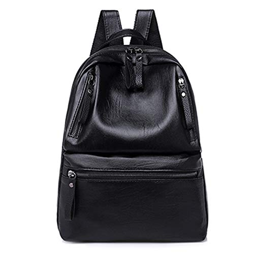 Women Backpacks Large Capacity School Bags Solid Backpack Female Black Rucksacks NEW Black 30x10x35cm