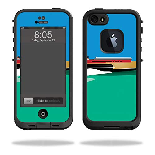 (MightySkins Skin Compatible with Lifeproof iPhone 5/5s/SE Case fre - Speed Boat | Protective, Durable, and Unique Vinyl Decal wrap Cover | Easy to Apply, Remove, and Change Styles | Made in The USA)