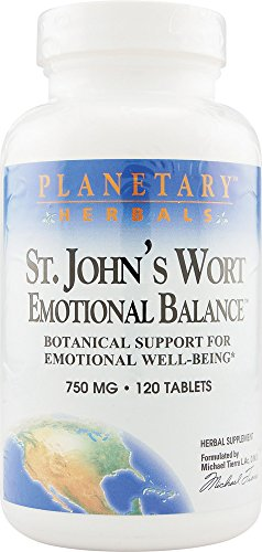 Planetary Herbals St. John's Wort Emotional Balance 750mg, Botanical Support for Emotional Well-Being