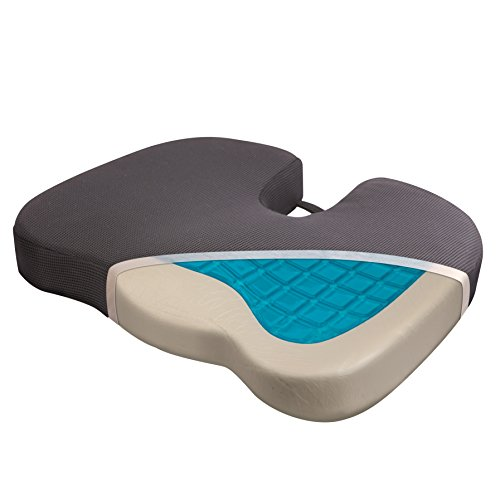 Wagan IN9113 Relax Fusion Coccyx Memory Foam and Gel Seat Cushion