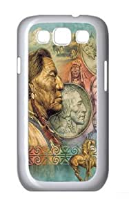 Samsung Galaxy I9300 Case and Cover -Five Cent Peace Native American PC Hard Plastic Case for Samsung Galaxy S3/Samsung Galaxy I9300 Whtie