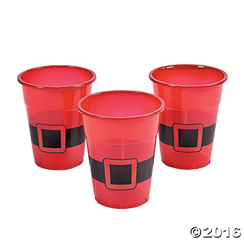 Santa Disposable Plastic Cups : package of 50