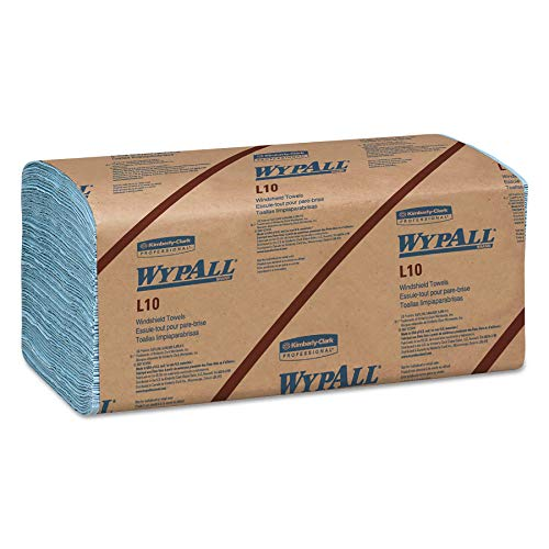 WypAll 05123 L10 Windshield Towels, 1-Ply, 9 1/10 x 10 1/4, 1-Ply, 224 per Pack (Case of 10 Packs) (Renewed)