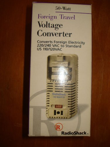 Radio Shack 273-1412 Multi-Nation Voltage Converter 50 watt