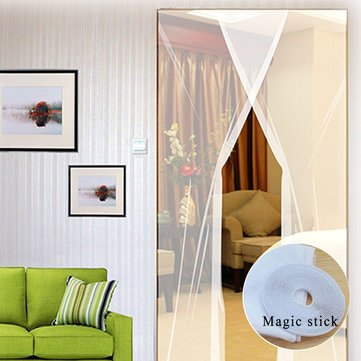 2Pcs 31X83 Inch Diy Window Door Anti Mosquito Pest Curtain Net Mesh Sheer Curtain Protector^. Moroccan Jewel