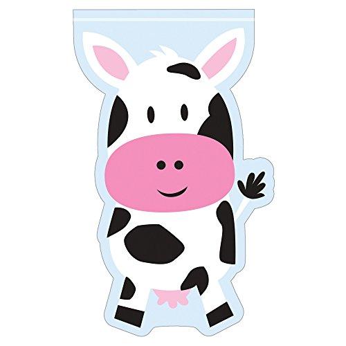 [Creative Converting Farmhouse Fun Cello Shaped Bags with Zipper (12 Count)] (Creative Cow Costumes)