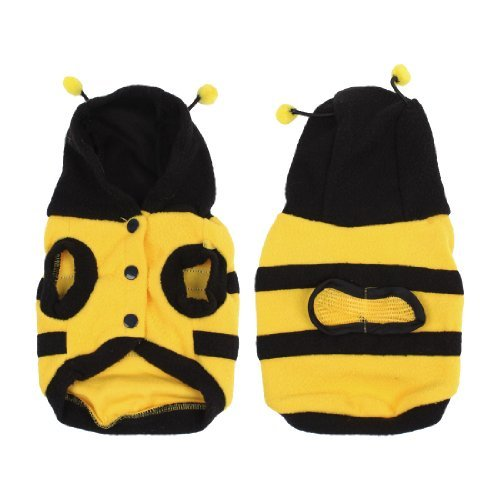 Water & Wood Winter Bee Style Cap Apparel Clothing Pet Cat Dog Hoodie Coat Yellow Size 8 41eNyLbL1QL