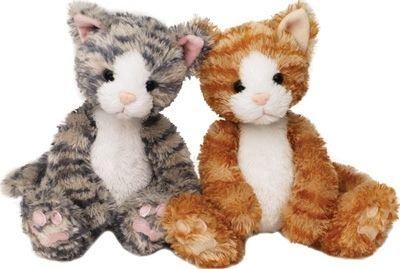 """8"""" Soft Kitty Cat Kitten Plush Stuffed Animal Set of Two Ass"""