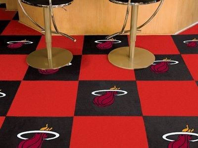 Fanmats Tiles - Fanmats Miami Heat Carpet Tiles