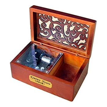 YouTang Creative Hollow Wood 18-Note Wind-up Musical Box,Musical Toys,Tune:Always with Me from The Spirited Away