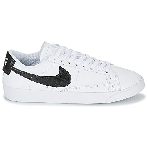 100 W Donna Bianco Basket white black Nike Da Scarpe Low Blazer UxqFO