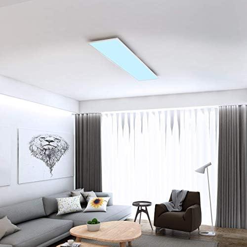 Briloner Leuchten 7196-016 Plafonnier LED en métal Blanc 36 W