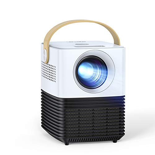 """Mini Projector, APEMAN Portable LCD Video Projector, Support 1080P Full HD, ±30° Electronic Keystone Correction, 120"""" Display, 50000Hrs, Compatible with TV Stick /PS4/HDMI/USB/Phone"""