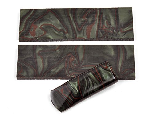 "Texas Knifemakers Supply Jungle Camo Kirinite Knife Handle Scales 5"" x 1-1/2"" x 3/8"" (Pair of 2)"