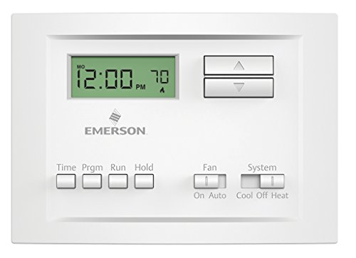 2 Day Programmable Thermostat - Emerson P150 Single Stage 5-2 Day Programmable Thermostat