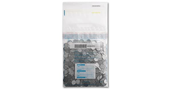 10x13 Tamper Evident Plastic Deposit Bags Clear