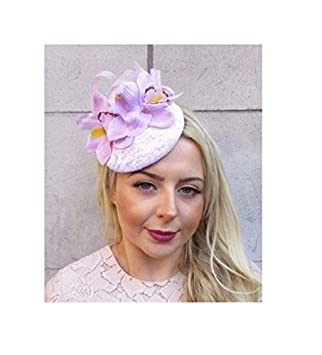 Starcrossed Boutique Light Lilac Purple Orchid Flower Fascinator Pillbox Hat  Hair Clip Hair Clip 4457 a8a4a5f05d5