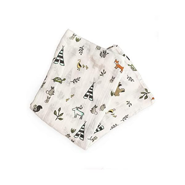 Aspen and Maple Baby Swaddle Blanket (Camp pals)