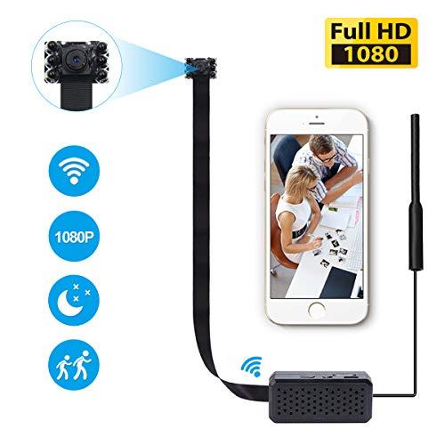 Mini WiFi Spy Camera, KAMRE 1080P Portable DIY Pinhole Hidden Camera Wireless Surveillance Camera for Home Security Monitoring Nanny Cam Video Recorder Night Vision Motion Detection