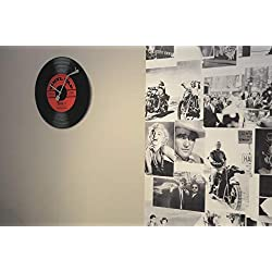 Unek Goods Nextime Vinyl Tap Wall Clock, Vinyl Album Face, Round, Battery Operated