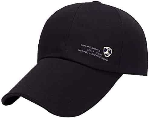 Skulls and Flowers Floral Lightweight Unisex Baseball Caps Adjustable Breathable Sun Hat for Sport Outdoor Black
