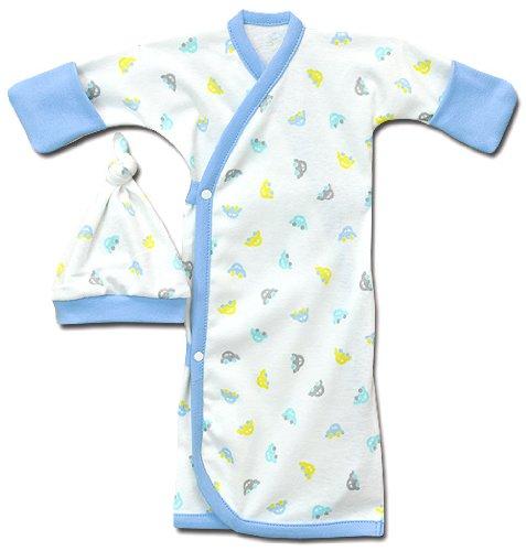 Lil Herbie Side Snap Gown Set - Sizes Tiny & Preemie (Preemie (3-6lbs))