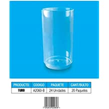 480 CT. Tube Style 2.5 oz Clear Mini Plastic Tasting / Sample Dessert