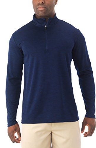 Russell Athletic Men's Lightweight Performance 1/4 Zip, Navy, - Of Blue The Quarter Jacket