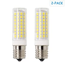 E17 LED Dimmable, All-NEW(102LEDs) E17 Led Bulb, 7W 75W Equivalent,730LM, AC110-130V, E17 Intermediate Base, for Microwave Oven lighting ,Daylight White, 2-Pack