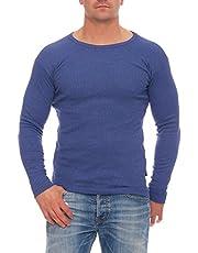 stylenmore Thermo-onderhemd voor heren, lange mouwen, binnenfleece, winterbescherming tegen kou, wintersport, wandelen, werkkleding opgeruwd, verwarmend, M-4XL, antraciet, donkerblauw, grijs
