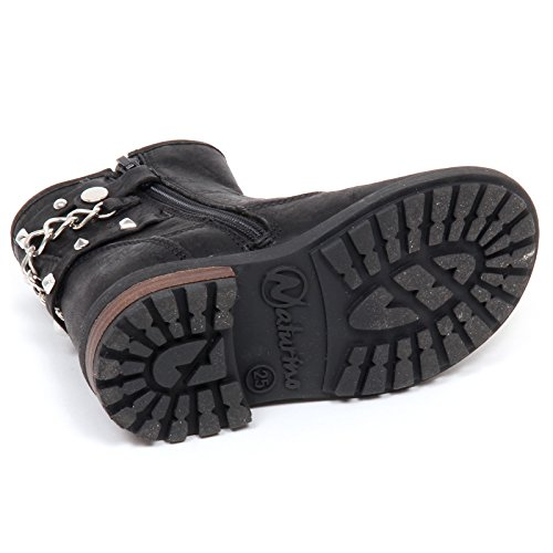 E2550 Boot Shoe Stivaletto Biker Bimba Nero Nero Scarpe Baby Naturino Girl dSwY7qd