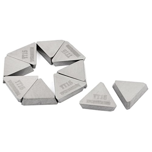 uxcell 10 Pcs YT15 Triangle Hard Alloy Cemented Carbide Inserts Cutter Tip