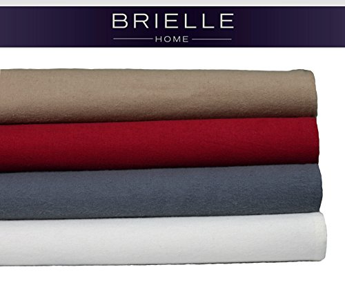 Brielle Cotton Flannel Sheet Set, Queen, Natural (Queen Flannel Sheets Sets compare prices)