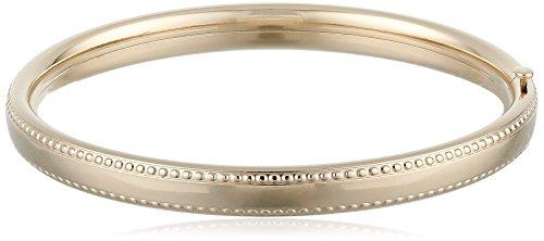 Filled Beaded Edge Bangle Bracelet (14k Gold Baby Bangle)