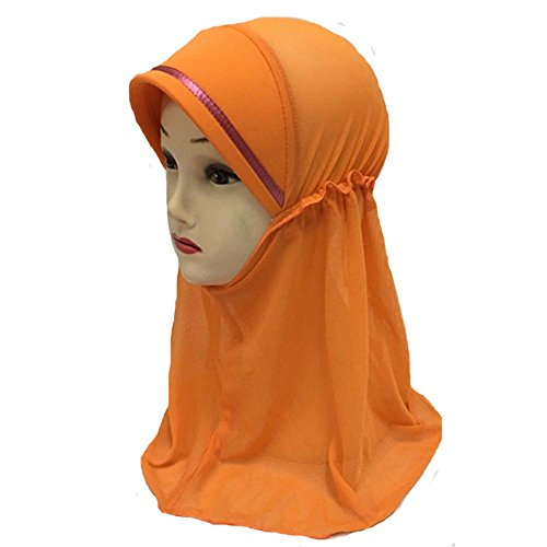 Girls-Kids-One-Layer-Muslim-Hijab-Islamic-Arab-Scarf-Shawls-Abaya-Net-Yarn-for-3-to-8-years-old-Girls