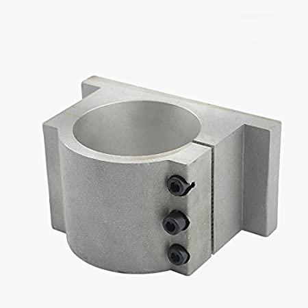 RATTMMOTOR 80mm Spindle Motor Clamp Mount Bracket Diameter 80mm CNC Motor Spindle with 3PCS Screws for 1.5kw 2.2kw CNC Router Engraving Milling Spindle