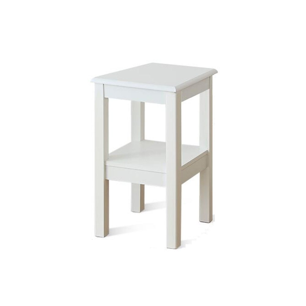 CJC Flowerpots Shrubs Small Side Table Solid Wooden Slim Occasional Coffee Lamp End Console Stand (Color : White, Size : Height60cm)