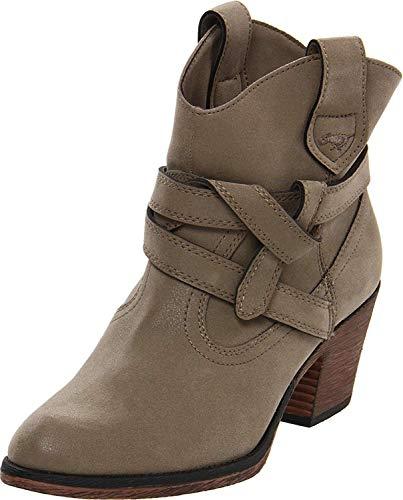 - Rocket Dog Women's Sayla Vintage Worn PU Western Boot, Mushroom, 8.5 M US