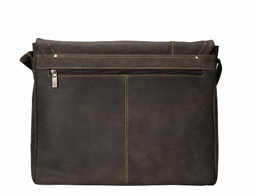 Visconti Messenger Bag with Laptop Sleeve for 15'', Brown, X-Large by Visconti (Image #2)