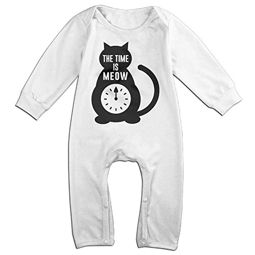 Magic Man Costume Adventure Time (Baby Girls Boys Time Is Meow Long Sleeve Romper Climb Clothes 18 Months White)