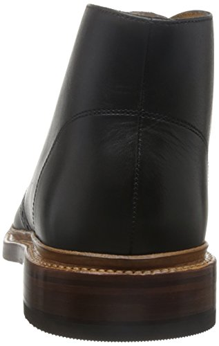Stacy Adams Mens Madison Ii-65 Stivale Chukka Nero Liscio