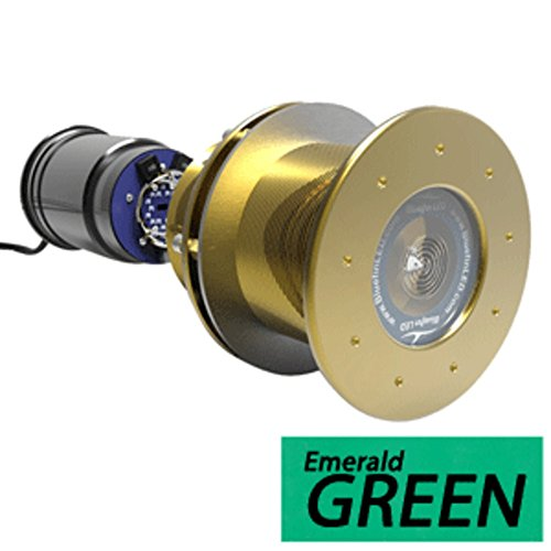 - Bluefin LED Great White GW16 Thru-Hull Underwater LED Light - 5600 Lumens - Emerald Green