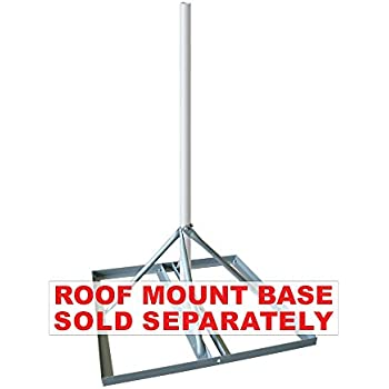 """Satellite WIFI FRM125 Non-Penetrating Roof Mount with 1.25/"""" x 60/"""" Mast"""