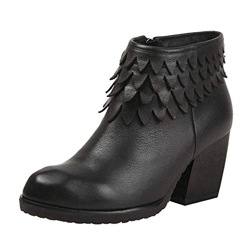 Casual Vintage Cremallera Botines Mujer Tacones Zapatos ZPEDY De Black Altos qInwx0pU4C