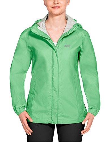 Chaquetas Jack Wolfskin Cloudburst para mujer, Spring Green, X-Large